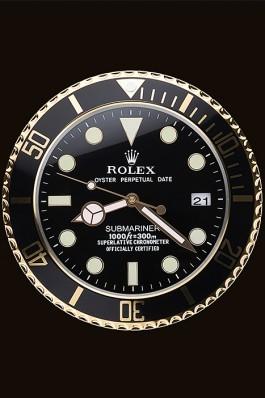 Rolex Submariner Wall Clock Black-Gold 622476 Rolex Submariner Replica