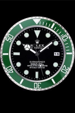 Rolex Submariner Wall Clock Silver-Green 621912 Rolex Submariner Replica