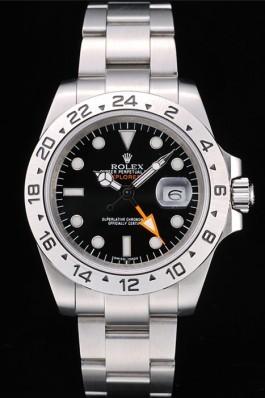 Rolex Swiss Explorer Stainless Steel Bezel Black Dial Watch Replica Rolex