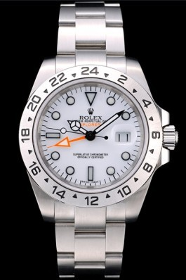 Rolex Swiss Explorer Stainless Steel Bezel White Dial Watch Replica Rolex