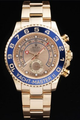 Gold Stainless Steel Band Top Quality Rolex Gold Yacht-Master II Luxury Watch 239 5152 Rolex Replica Cheap