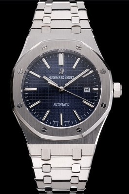 Swiss Audemars Piguet Royal Oak Blue Dial Stainless Steel Case And Bracelet Piguet Replica