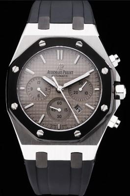 Swiss Audemars Piguet Royal Oak Chronograph Grey Dial Stainless Steel Case Black Rubber Strap 622866 Piguet Replica
