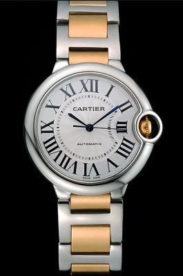 Swiss Cartier Ballon Bleu 36mm Silver Dial Stainless Steel Case Two Tone Gold Bracelet 622878 Cartier Replica