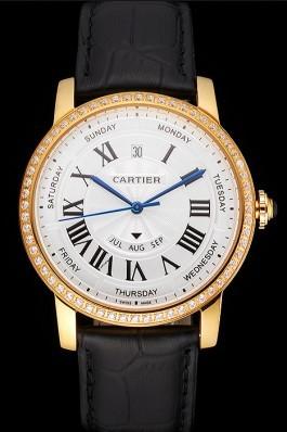 Swiss Cartier Ballon Bleu GMT Silver Dial Rose Gold Case And Bracelet Cartier Replica