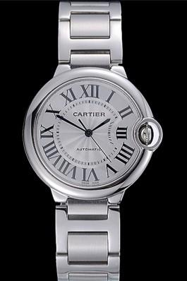 Swiss Cartier Ballon Bleu Silver Dial Stainless Steel Bracelet  Cartier Replica