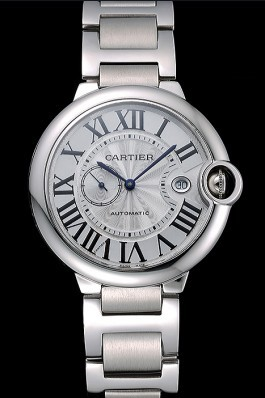 Swiss Cartier Ballon Bleu White Dial Stainless Steel Case Steel Bracelet 622672 Cartier Replica