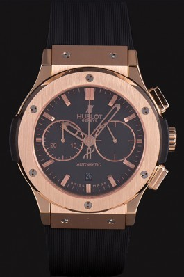 Swiss Hublot Classic Fusion Black Dial Rose Gold shb08 621401 Hublot Replica Watch