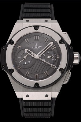 Swiss Hublot King Power Stainless Steel with Rubber Band shb11 621404 Hublot Replica Watch
