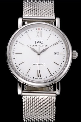 Swiss IWC Portofino Stainless Steel Case White Dial Steel Bracelet 622670 Iwc Replica