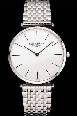 Swiss Longines Grande Classique White Dial Stainless Steel Case And Bracelet Longines Replica Watch