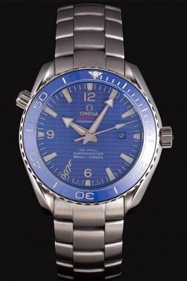 Swiss Omega James Bond Skyfall Blue Dial and Blue Bezel som75 621408 Omega Replica Seamaster