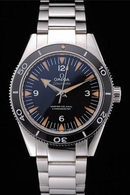 Swiss Omega Seamaster Black Dial Stainless Steel Case And Bracelet 622843 Omega Replica Seamaster