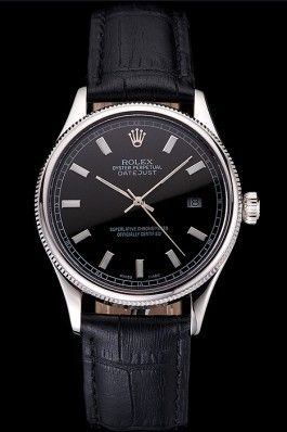 Swiss Rolex Datejust Black Dial Stainless Steel Case And Bracelet Replica Rolex Datejust