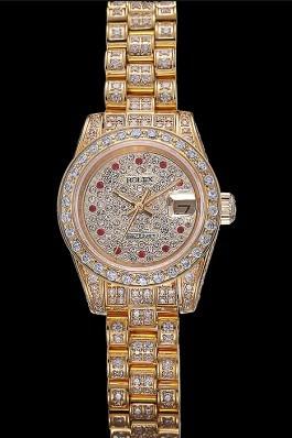Swiss Rolex DateJust Diamond Dial Gold 622024 Replica Rolex Datejust
