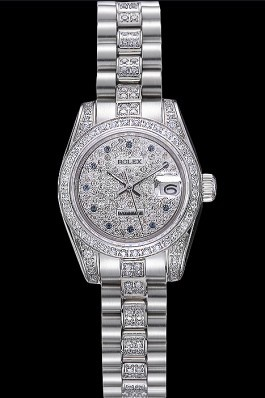Swiss Rolex DateJust Diamond Dial Stainless Steel 622021 Replica Rolex Datejust