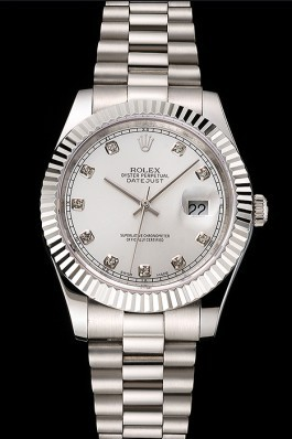 Swiss Rolex Datejust Silver Dial Stainless Steel Case And Bracelet Replica Rolex Datejust