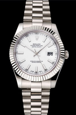 Swiss Rolex Datejust White Dial Stainless Steel Case And Bracelet Replica Rolex Datejust