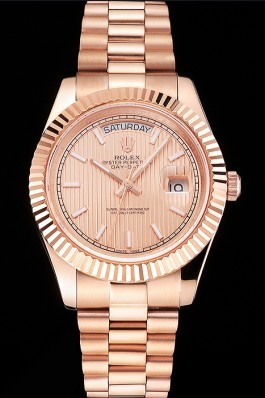Swiss Rolex Day Date 40 Rose Gold Etched Dial Rose Gold Case And Bracelet Rolex Replica Aaa