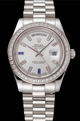 Swiss Rolex Day-Date Diamonds Bezel Staineless Steel Bracelet 1454109 Rolex Replica Aaa