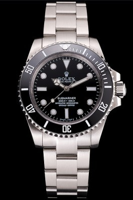 Swiss Rolex Submariner No Date Black Dial And Bezel Stainless Steel Case And Bracelet Rolex Submariner Replica