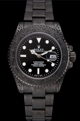 Swiss Rolex Submariner Skull Limited Edition Black Dial All Black Case And Bracelet 1454082 Rolex Submariner Replica