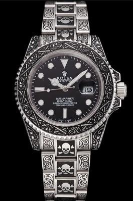 Swiss Rolex Submariner Skull Limited Edition Black Dial Vintage Case And Bracelet 1454090 Rolex Submariner Replica