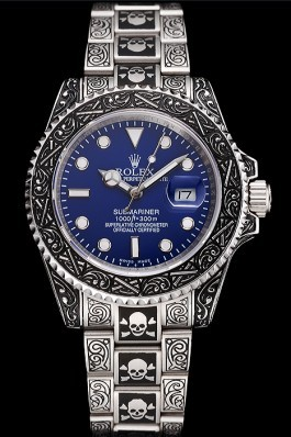Swiss Rolex Submariner Skull Limited Edition Blue Dial Vintage Case And Bracelet 1454091 Rolex Submariner Replica