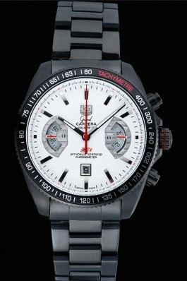 Tag Heuer Carrera Black Stainless Steel Case White Dial 98241 Tag Heuer Replica