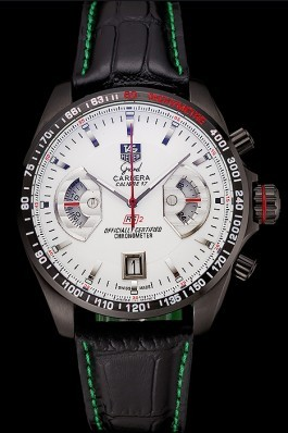 Tag Heuer Carrera Black Stainless Steel Case White Dial 98246 Tag Heuer Replica