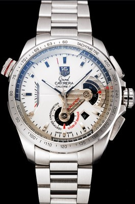 Tag Heuer Swiss Carrera Tachymeter Bezel Stainless Steel White Dial Tag Heuer Replica