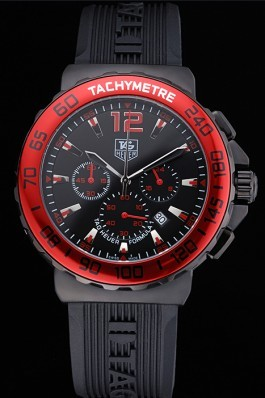 Tag Heuer Formula 1 Chronograph Black Dial Red Bezel Red Numerals 622407 Replica Tag Formula 1