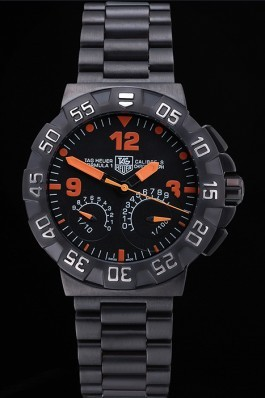 Tag Heuer Formula One Calibre S Black Dial Orange Numerals Ion Plated Steinless Steel Bracelet 622300 Replica Tag Formula 1