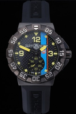 Tag Heuer Formula One Grande Date Black And Yellow Dial Rubber Bracelet 622280 Replica Tag Formula 1