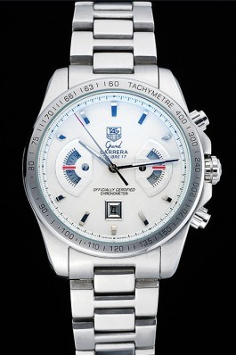 Tag Heuer Grand Carrera Stainless Steel Bracelet White Dial 801437 Tag Heuer Replica