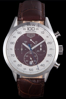 Tag Heuer Carrera Mikrograph Limited Edition Brown Leather Strap 7916 Tag Heuer Replica