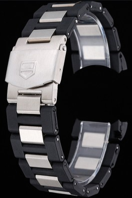 Tag Heuer Plated Stainless Steel and Black Rubber Bracelet 622501 Tag Heuer Bracelet