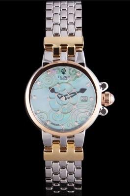 Tudor Clair de Rose White Dial Two Tone Band 621495 Tudor Watches