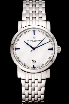 Vacheron Constantin Fine White Dial Stainless Steel Case And Bracelet Replica Vacheron Constantin