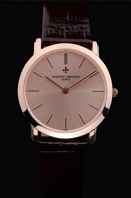 Brown Leather Band Top Quality Maroon Constantin Luxury Watch 5474 Replica Vacheron Constantin
