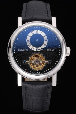 Breguet Classique Complications Stainless Steel Case Black Leather Strap 80158 Breguet Replica