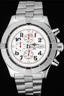 Silver Stainless Steel Band Top Quality Breitling Solid Stainless Steel Luxury Watch 4038 Breitling Replicas