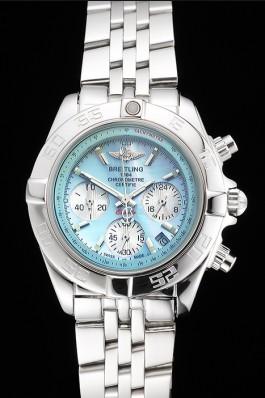 Breitling Chronomat Quartz Light Blue Dial Stainless Steel Case And Bracelet Breitling Chronomat
