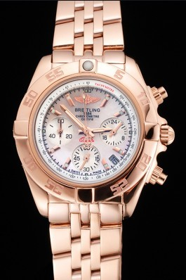 Breitling Chronomat Quartz Pearl Dial Rose Gold Case And Bracelet Breitling Chronomat