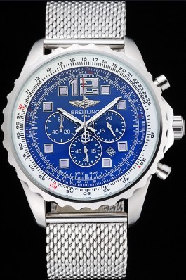 Breitling Navitimer Stainless Steel Strap Blue Dial Replica Designer Watches