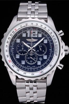 Breitling Professional Chronospace Black Dial Stainless Steel Bracelet 622505 Replica Designer Watches