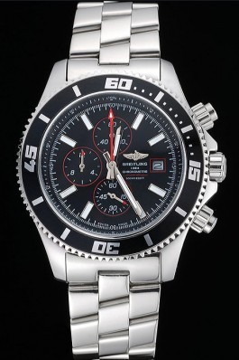Breitling Superocean Chronograph II Black Dial Stainless Steel Bracelet 622428 Breitling Watches