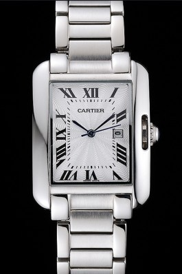 Cartier Tank Anglaise 30mm White Dial Stainless Steel Case And Bracelet Cartier Replica