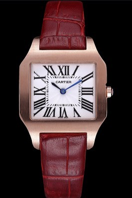 Cartier Santos 100 Polished Rose Gold Bezel 621919 Cartier Replica