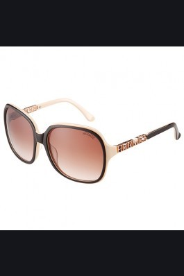 Replica Hermes Large Oversized Beige Frame Sunglasses with Metallic Logo 308102